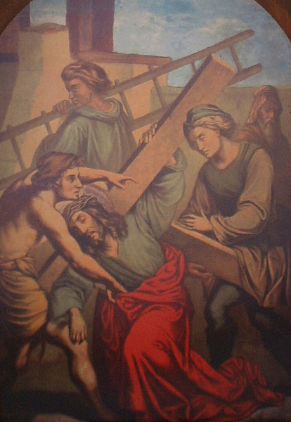 V. Simon Helps Carry the Cross